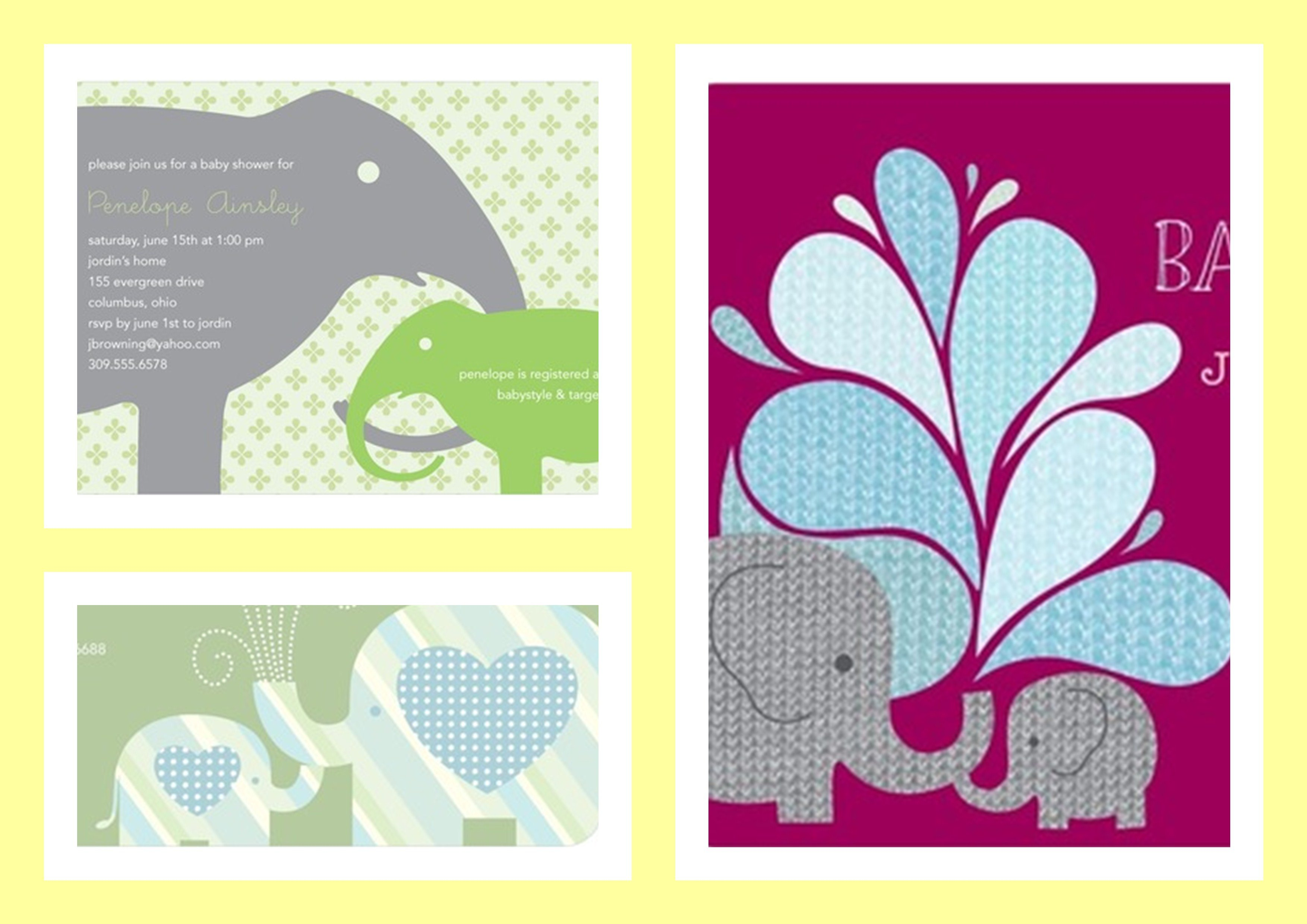 Best Elephant Baby Shower Invitations | Theme Party Planning ...