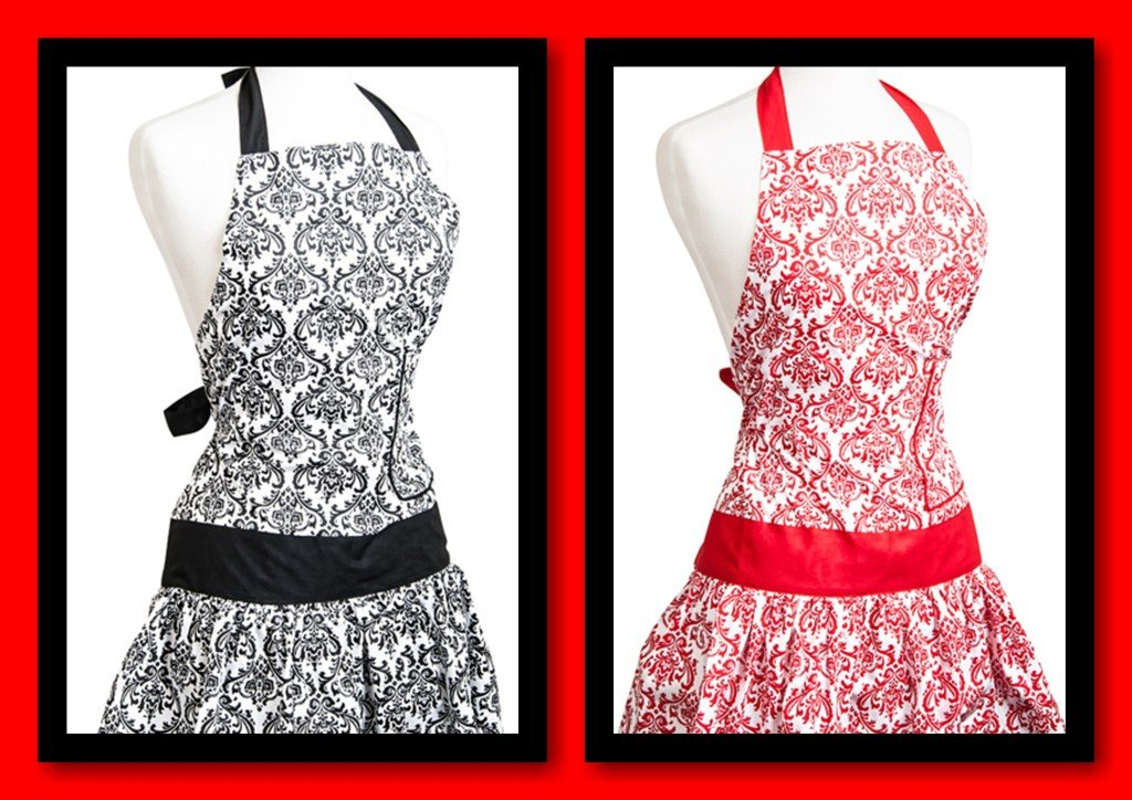 Damask Flirty Apron Flash Sale