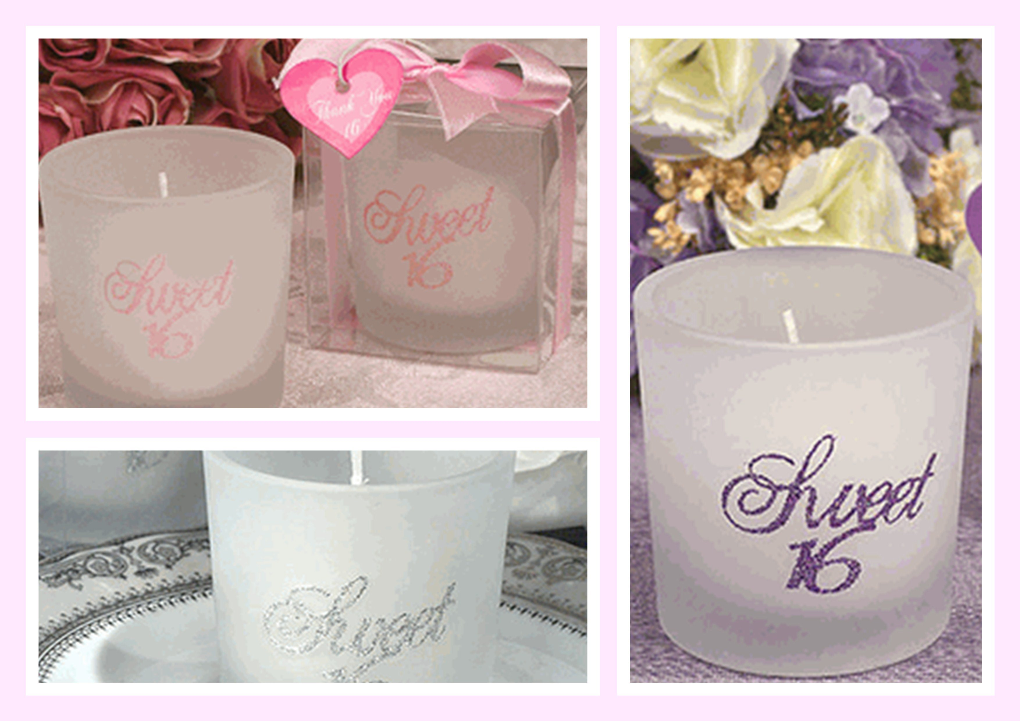 Sweet Sixteen Glitter Candles
