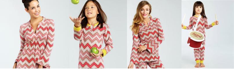 Mommy Me Matching Chevron Pajamas