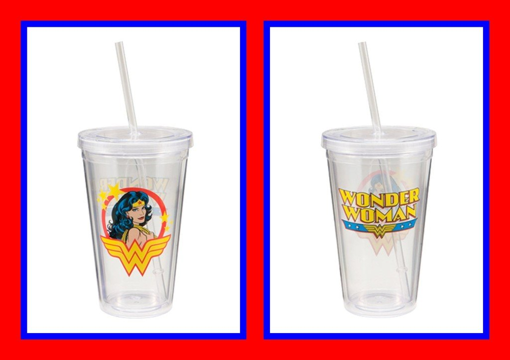 Wonder Woman Acrylic Travel Cups