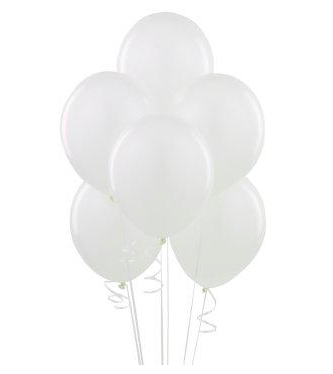 Bright White Latex Balloons