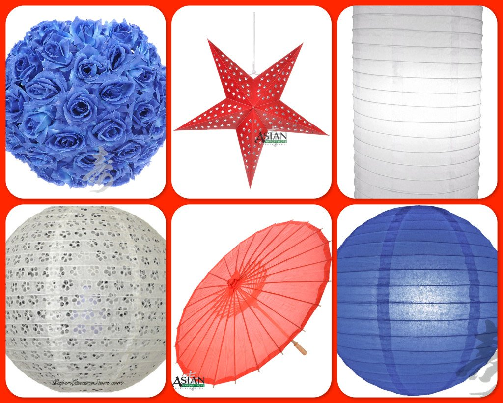 July 4th Paper Lanterns