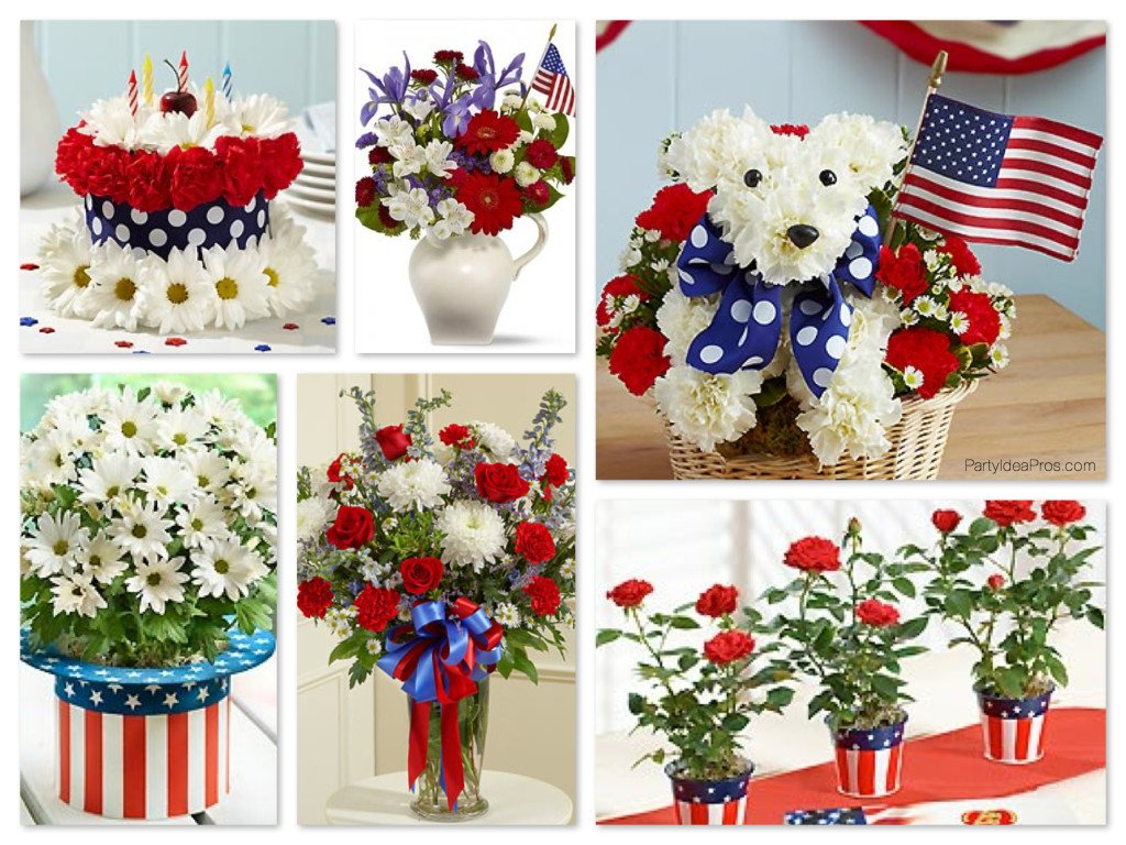 Patriotic Flower Arrangements