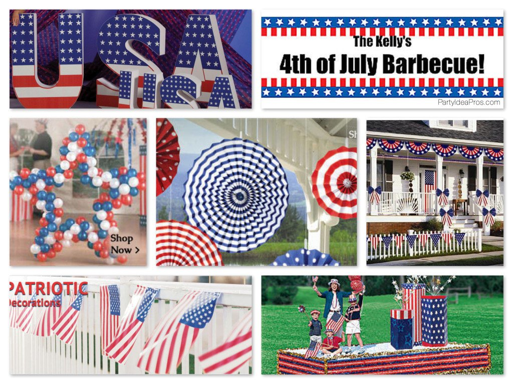 Patriotic July Fourth Party Decor & Props