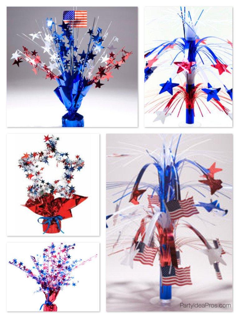 Patriotic Mylar Centerpieces