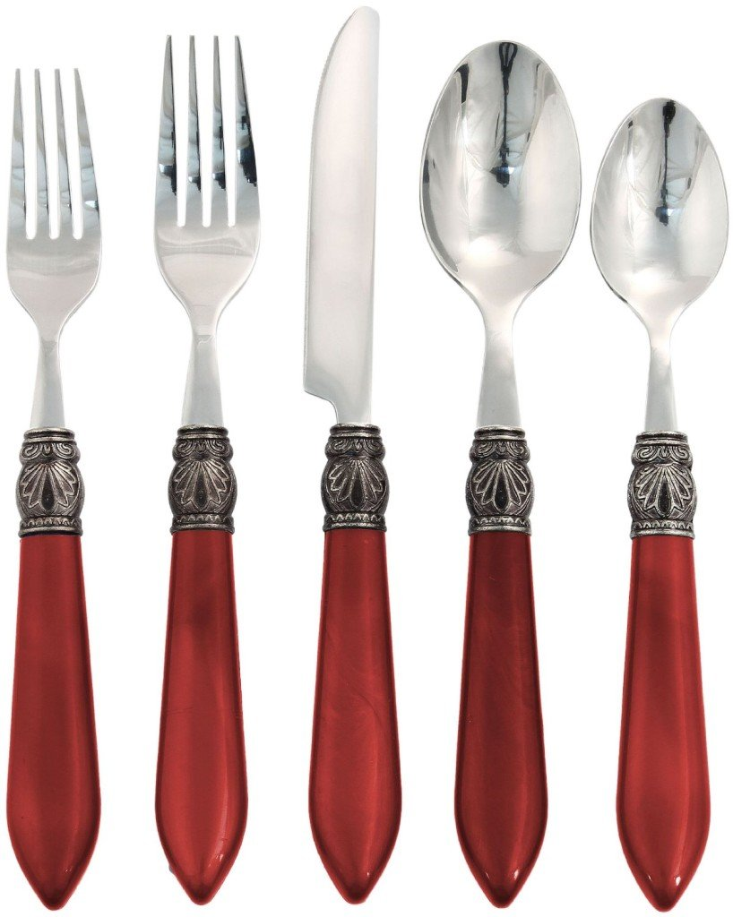 Red Sophia Flatware Set..