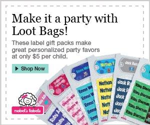Kids Sticky Label Party Favors