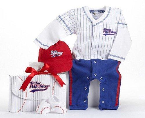 All Star Baseball Baby Gift Set