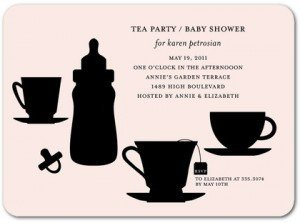 Baby Tea - Baby Shower Invitations