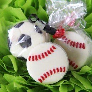 Baseball Chocolate Covered Oreo Cookies