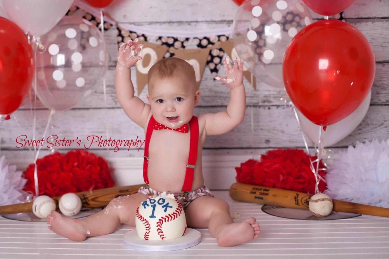 Baseball Smash Cake Outfits