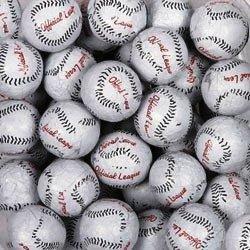 Baseballs Solid Milk Chocolate Balls