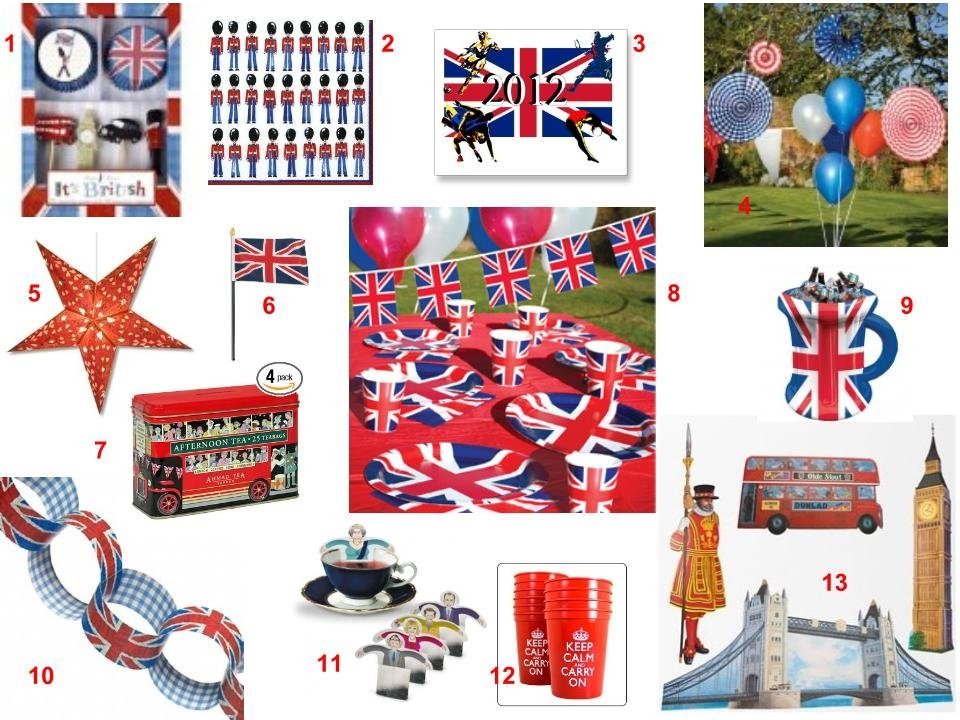 British Theme Party Inspiration Board
