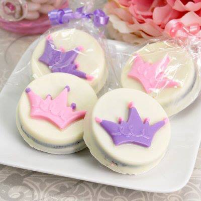 Royal Baby Shower Party Favors Princess Crown Design White