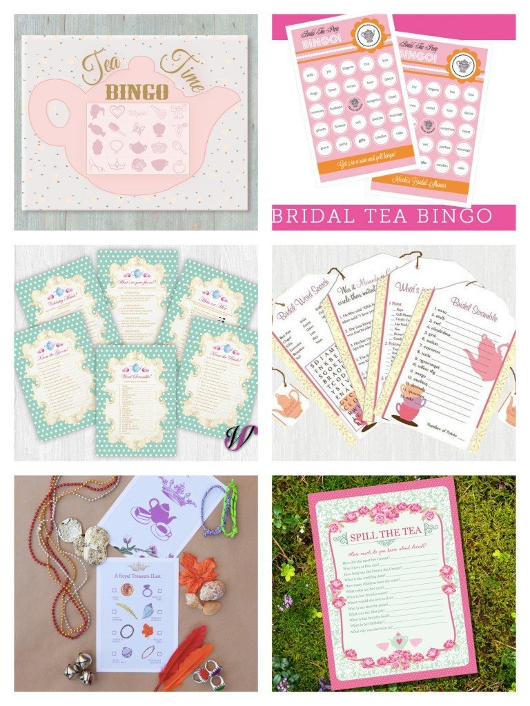 Printable Tea Party Games