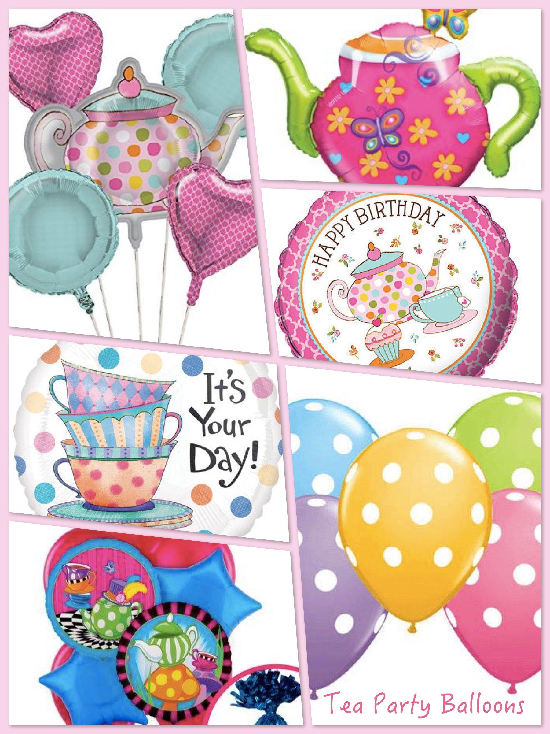 Tea Party Balloons