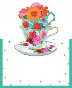 Tea Party Die Cut Tented Place Cards