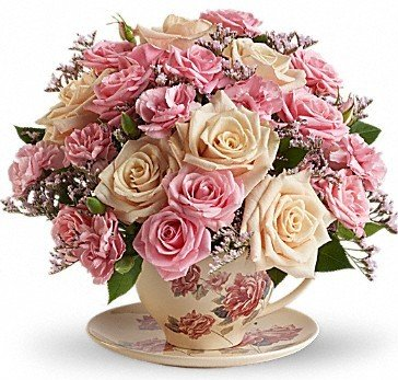 Teleflora Flowers' Victorian Teacup Bouquet