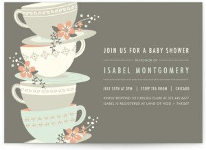 Time for Tea Shower Invitations
