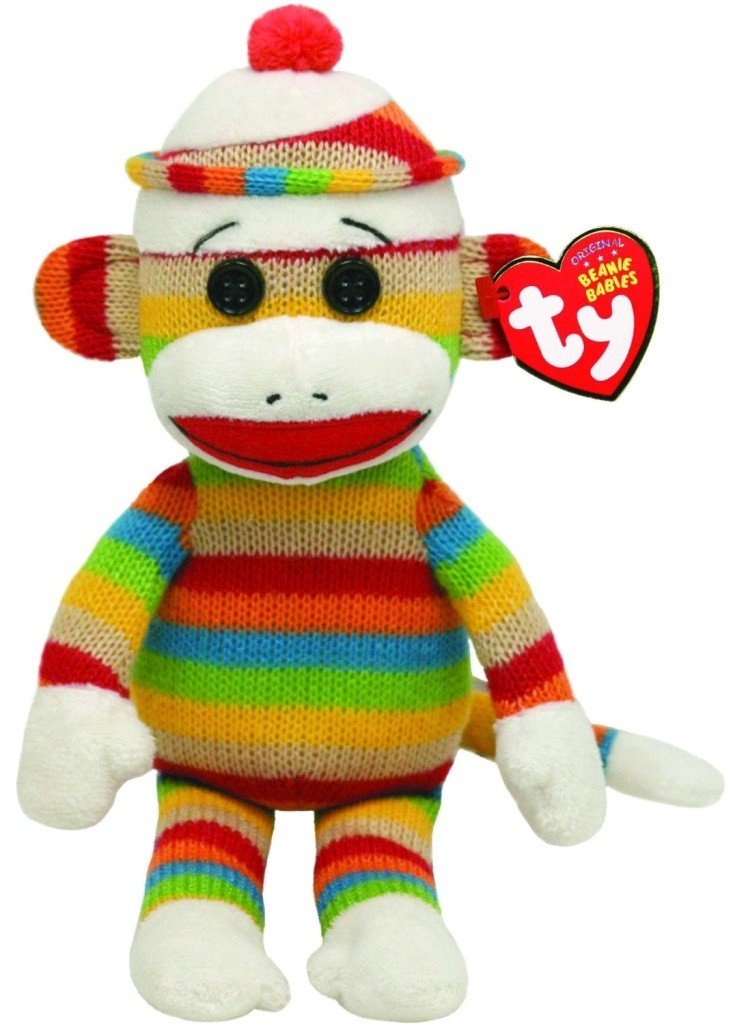 Ty Beanie Baby Striped Socks the Sock Monkey