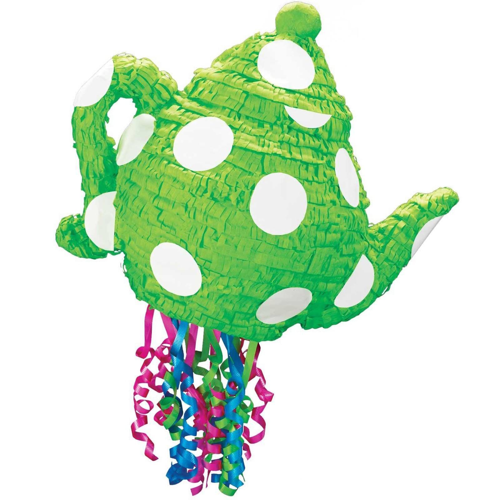 Green Teapot Pull String Pinata