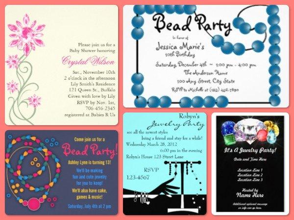 Beading Party Invitations