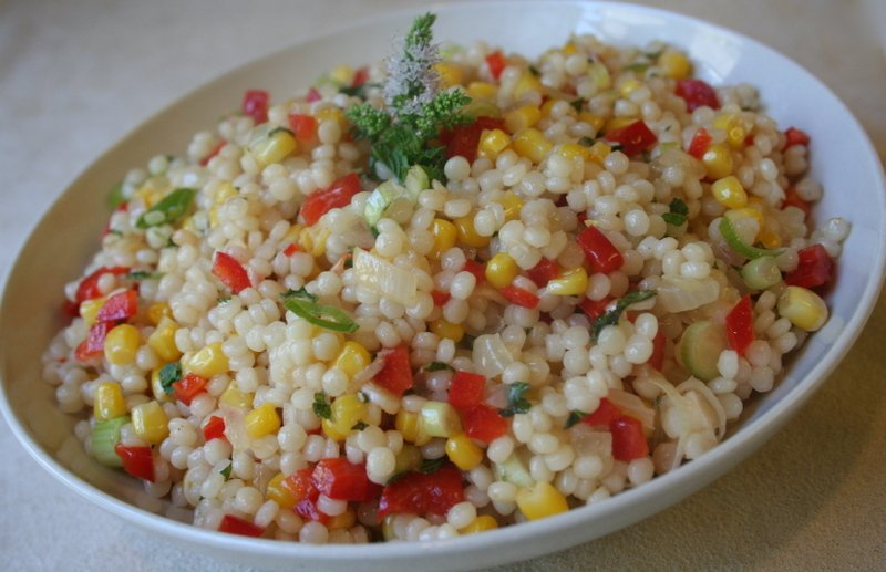 Israeli Couscous and Corn Salad
