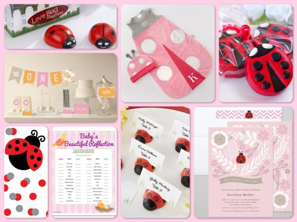 A Little Ladybug Baby Shower Theme Party Planning Ideas Gifts