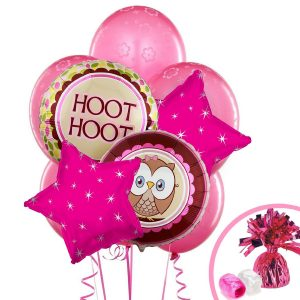 Look Whoos 1 Pink Balloon Bouquet