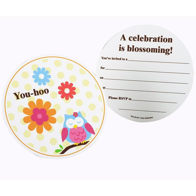 Owl Blossom Invitations