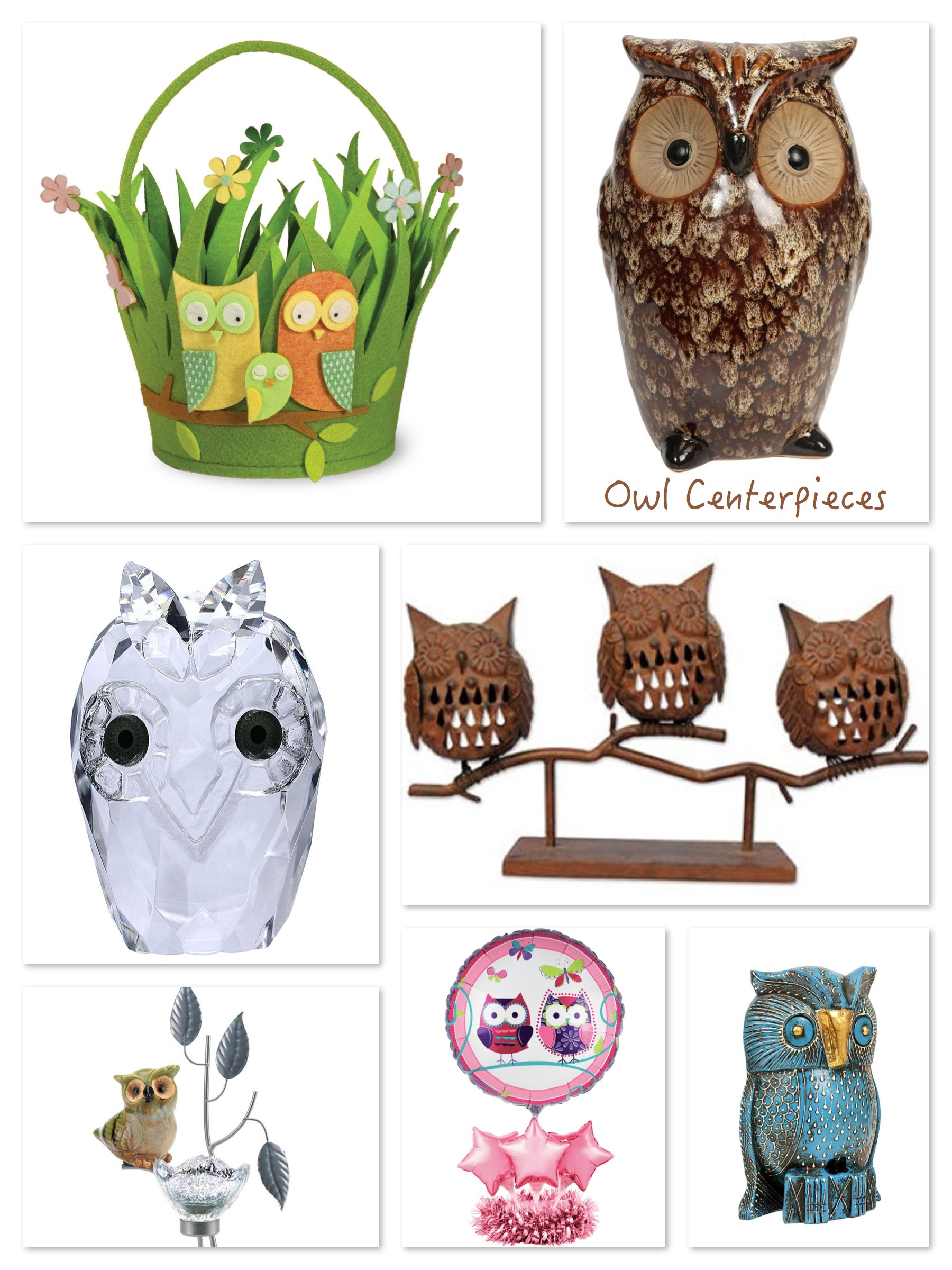 Owl Centerpieces
