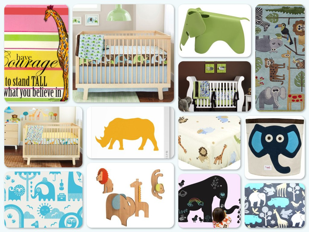African Inspired Jungle Safari Theme Nursery Ideas