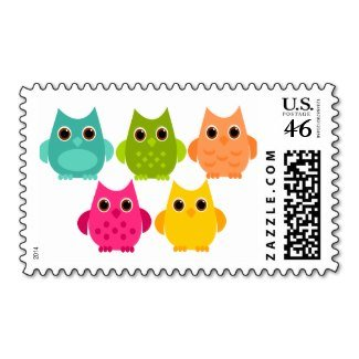a_bright_bunch_of_owls_postage