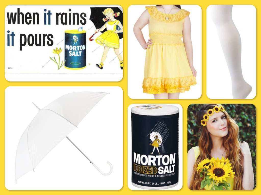 Plus Size Halloween Morton Salt Girl Costume