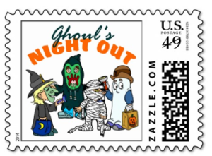 ghoul's night out stamp