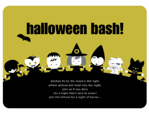 green halloween invitation