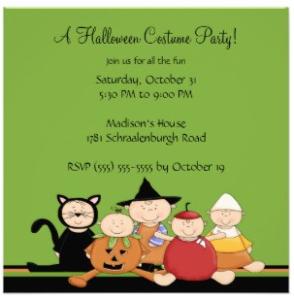 green halloween invite