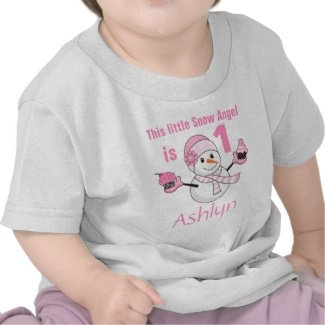 Winter wonderland snowman cupcakes first birthday tshirt
