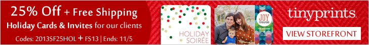 Tiny Prints + GreatGets Holiday Card & Invitation Sale