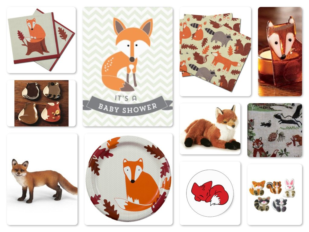 Fox Theme Party Plates, Decor & Supplies