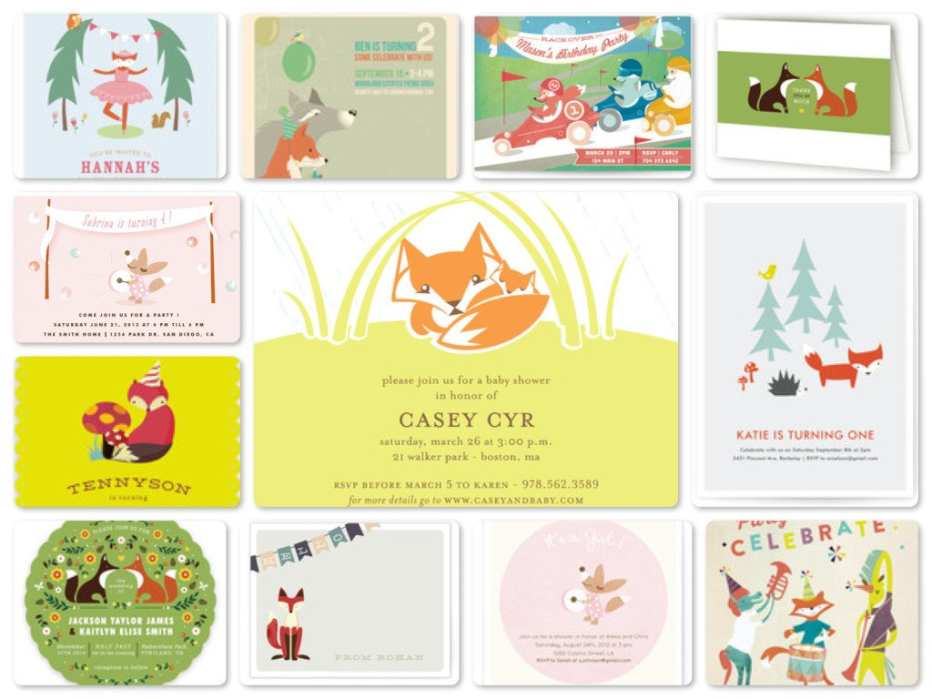 Fox Woodland Party Invitations & Cards