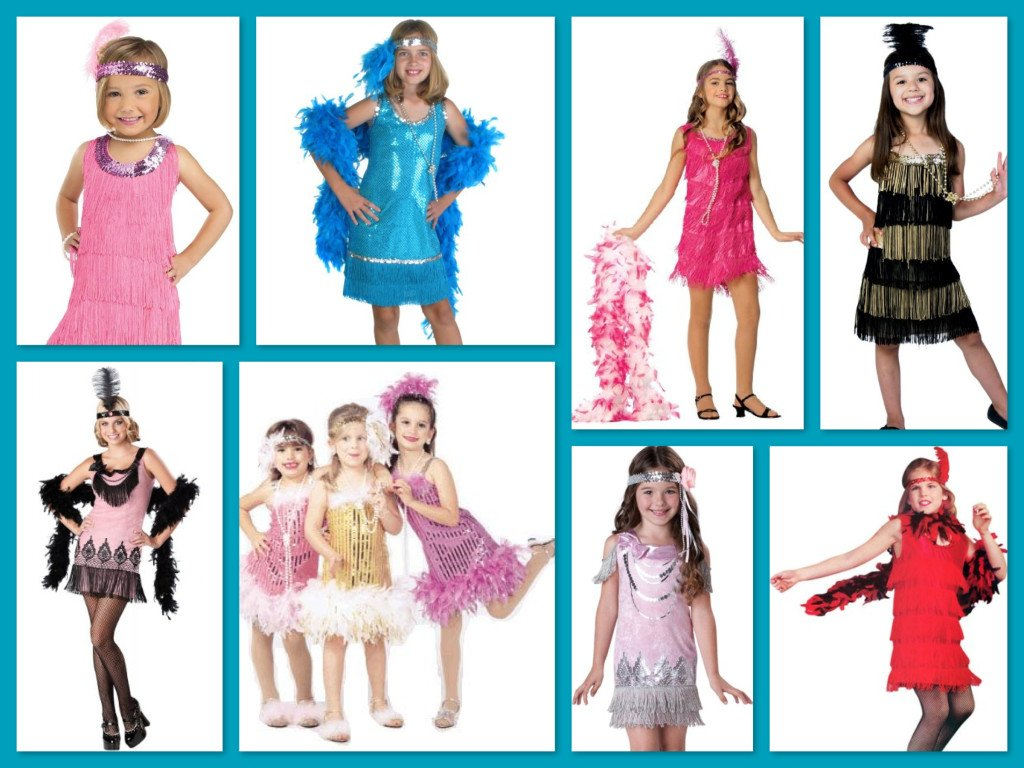 Girls Great Gatsby Flapper Childrens Group Halloween Costume Ideas