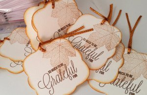 Grateful Thanksgiving Place Cards