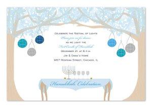 HANUKKAH DINING Party Invitation