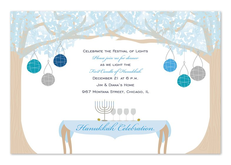 HANUKKAH DINING Party Invitation