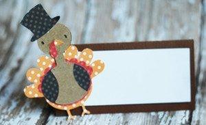 Handmade Turkey Place Cards