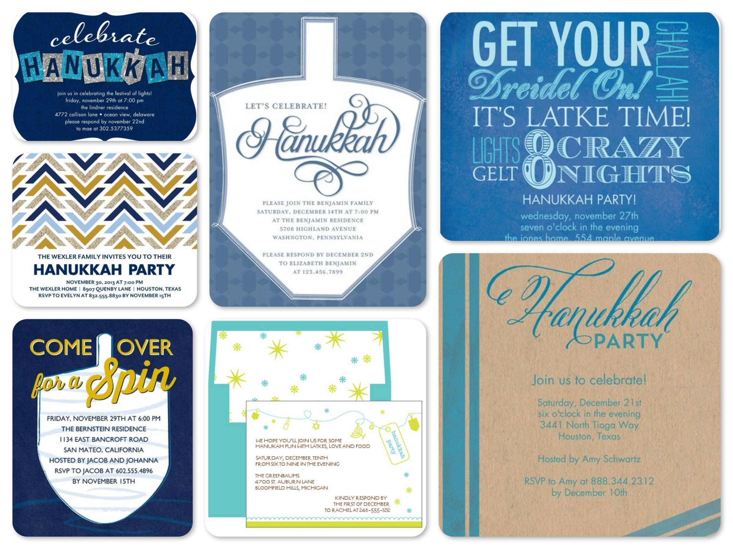 Best Hanukkah Party Invitations Tiny Prints Promo Codes Party