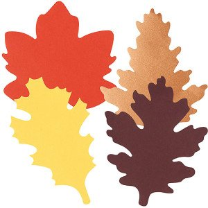 Large Fall Paper Leaves Thanksgiving Place Cards