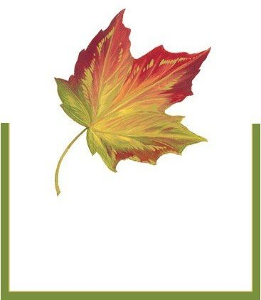Maple Leaf Thanksgiving Place Cards